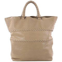 Bottega Veneta Shopping Tote Leather with Intrecciato Detail Large
