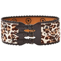 Alaia Stencilled Animal Print Belt