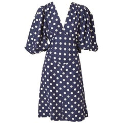 Yves Saint Laurent 1940s Inspired Polka Dot Dress