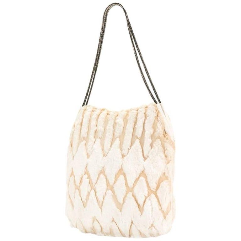 Versace Ivory Evening Bag