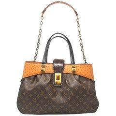 Louis Vuitton Oskar Waltz Ostrich and Lizard Handbag