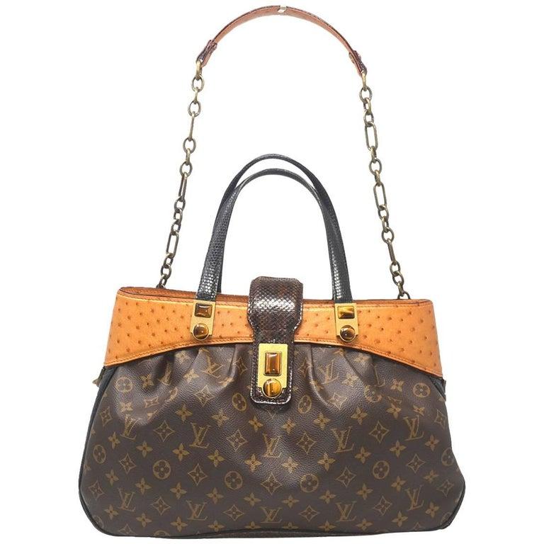 c1718d143467 Louis Vuitton Oskar Waltz Ostrich and Lizard Handbag For Sale at 1stdibs