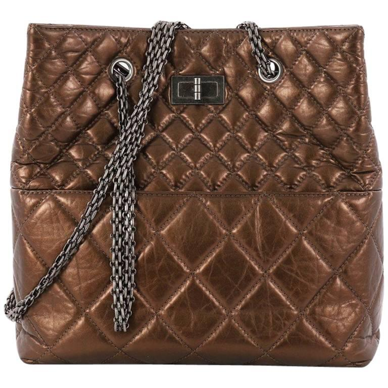 Chanel Reissue Quilted Aged Calfskin Tall Tote  For Sale