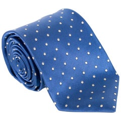 "Tom Ford Mens Diagonal Dot 3 1/4"" Blue 100% Silk Tie"