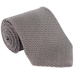 "om Ford Geometric Stripped 3.25"" Silk RTL$260 Brown Beige Tie"