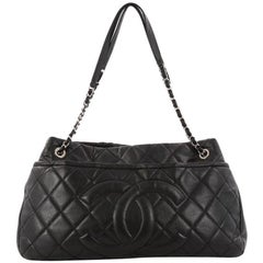 Chanel Timeless CC Shopping Tote Quilted Caviar Large