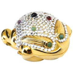 Judith Leiber Frog Pillbox, 1984