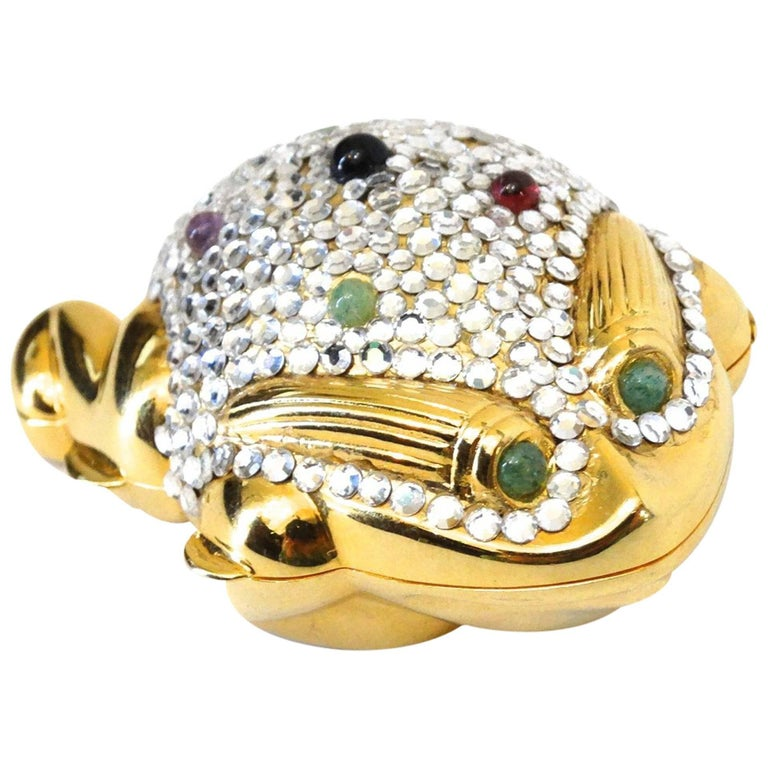 Judith Leiber Frog Pillbox, 1984   For Sale