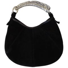Tom Ford for Yves Saint Laurent Silver Tusk Handle Bag