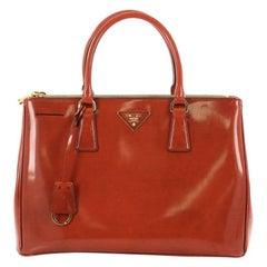 Prada Double Zip Lux Tote Spazzolato Leather Medium