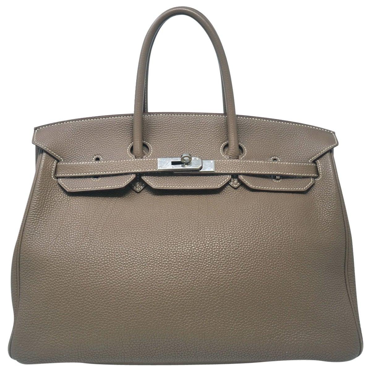 Hermes Birkin Togo 35 Taupe Handbag