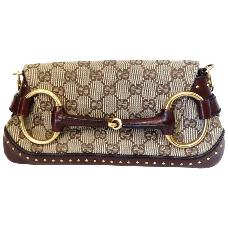 Tom Ford for Gucci Monogram Horsebit Chain Shoulder Bag, 2003