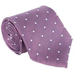 "Tom Ford Mens Diagonal Dot 3 1/4"" Purple 100% Silk Tie"