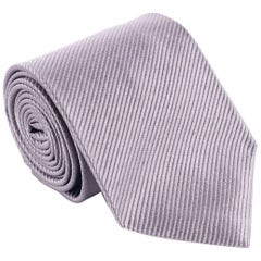 Tom-Ford-Mens-Silver-Stripped-100-Silk-3-5-034-Classic-Tie