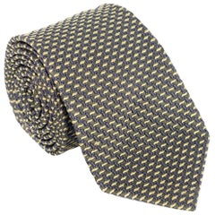 "Tom Ford Mens Geometric Green Woven Pattern Silk Blend 3.25"" Classic Tie"