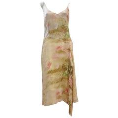 Kenzo Jungle Silk Floral/Honeycomb Print Silk Dress (42 Fr)