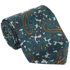 "Tom Ford Luxurious Green Leaf Floral Paisley 3 1/4"" Tie"