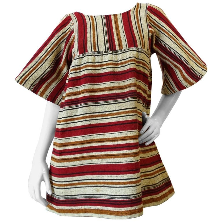 Rikma Striped Bell Sleeve Blouse, 1970s  For Sale