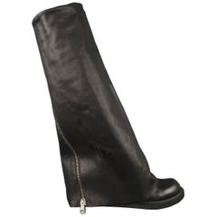Rick Owens Boots - Spring 2011 Anthem Runway - Leather, Black, Shoes