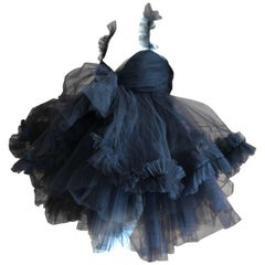 Dolce & Gabbana Vintage Tulle Ruffled Mini-Crini Cocktail Dress, 1980s