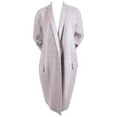 "Celine By Phoebe Philo heathered grey ""egg shape"" cashmere coat"