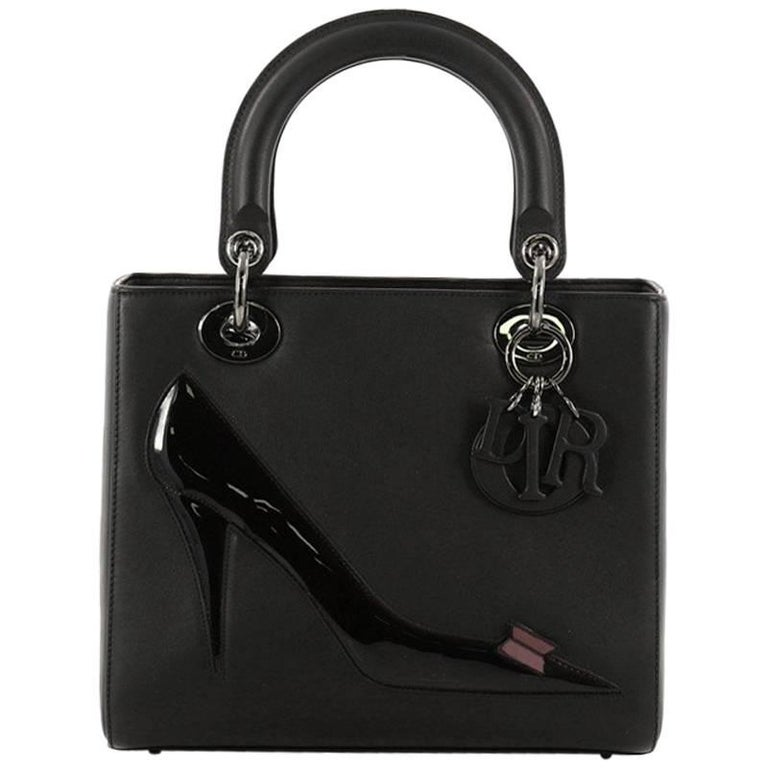 d66a97afd Christian Dior Warhol Lady Dior Calfskin Medium Handbag at 1stdibs