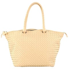 Bottega Veneta Intrecciato Nappa Large Zip Top Tote