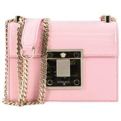 Versace Patent Mini Diamante Shoulder Bag