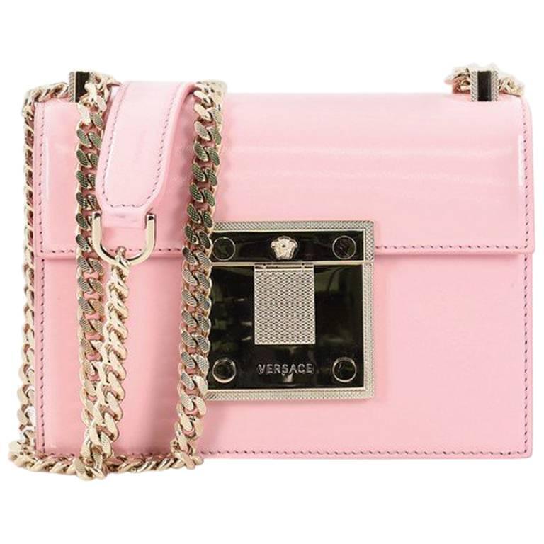 Versace Patent Mini Diamante Shoulder Bag