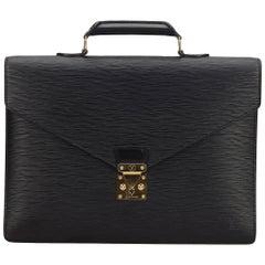 Louis Vuitton Black Epi Serviette Ambassadeur