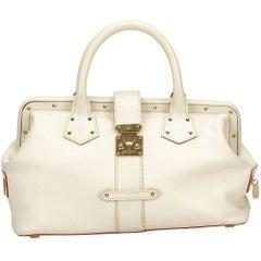 Louis Vuitton White Suhali  Lingenieux PM
