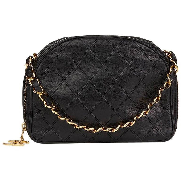 Chanel Black Quilted Lambskin Vintage Timeless Charm Bag, 1980s
