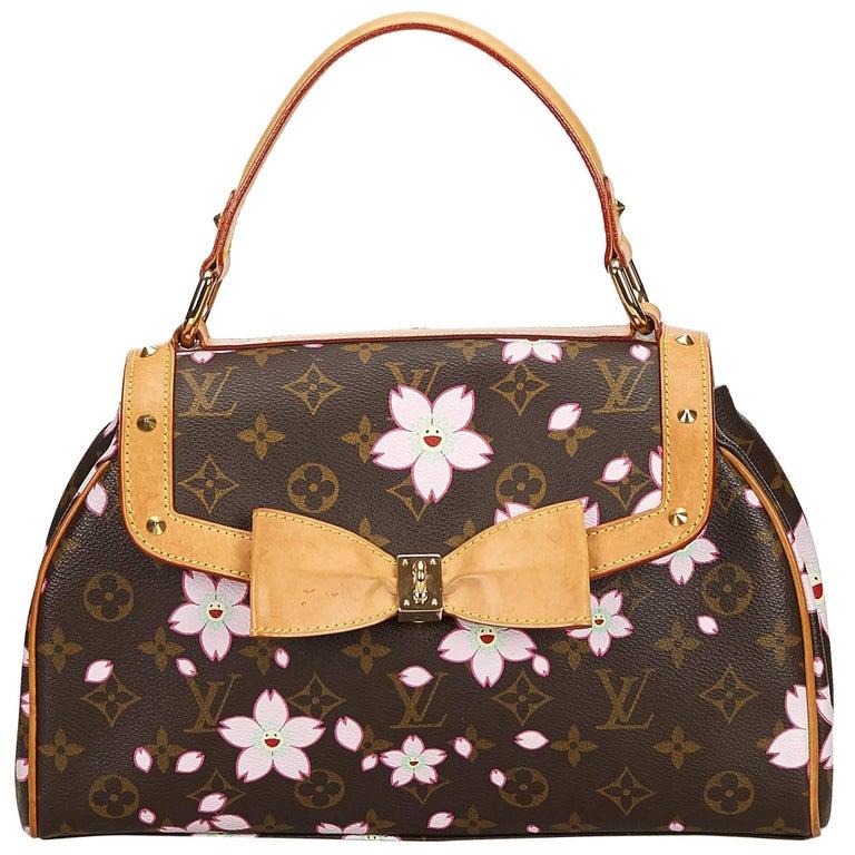 dea448e61cd0 Louis Vuitton Brown Monogram Murakami Cherry Blossom Sac Retro Bag For Sale