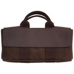 Hermes Mini Valparaiso Brauner Canvas und Leder Tasche