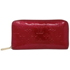 Louis Vuitton Zippy Wallet Red Vernis Leather in Box