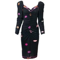 Leonard Lip Print Dress