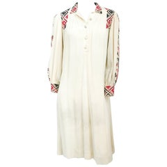 1920s Bohemian Cream Handmade dress