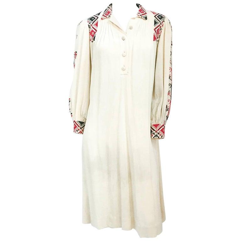 1920s Bohemian Cream Handmade dress