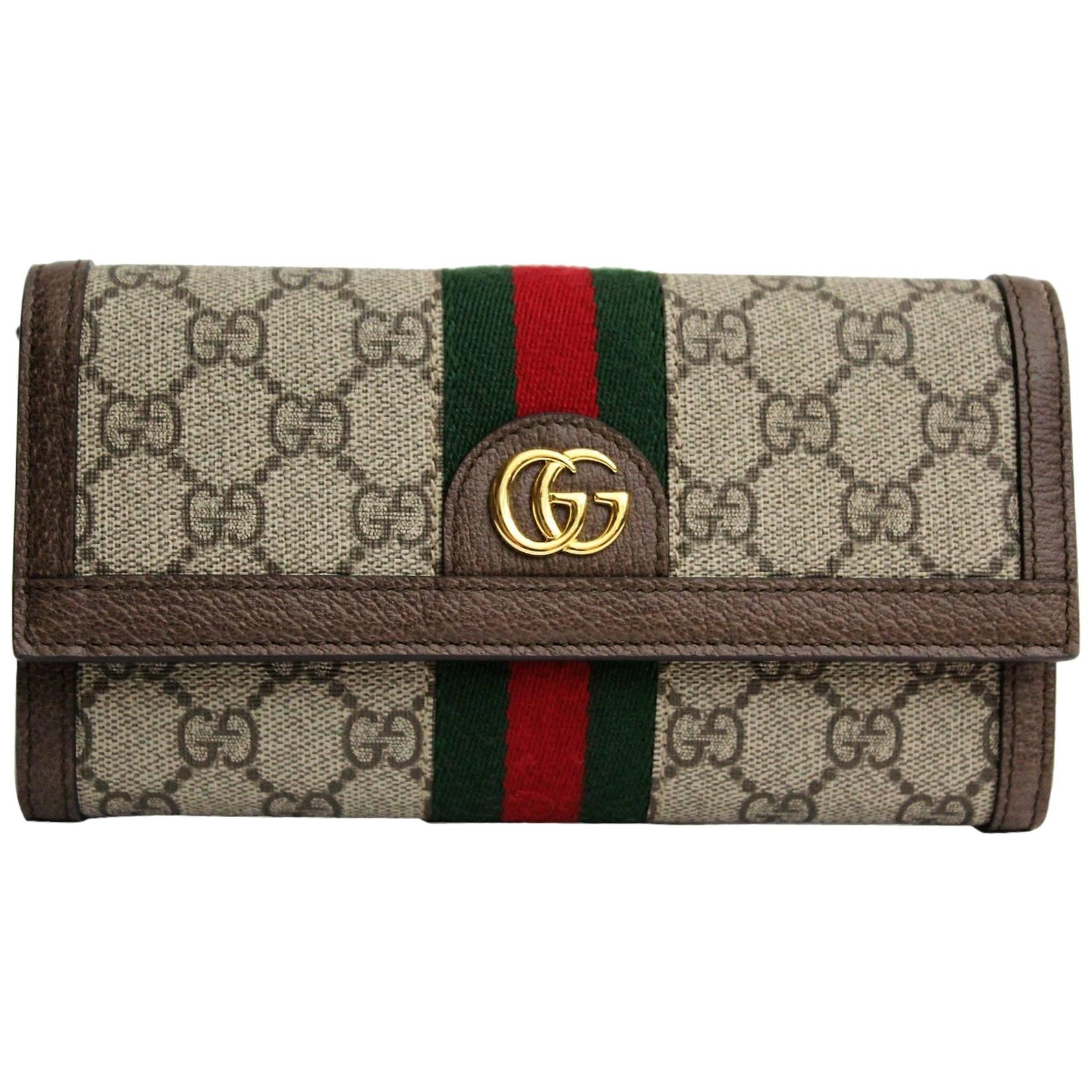 a485bb7572a5e7 Gucci Ophidia GG continental wallet at 1stdibs