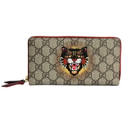 Gucci Wallet Angry Cat GG Supreme