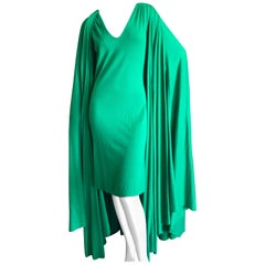 Cardinali Luxurious Lime Green Cashmere Dress and Matching Cape