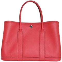 Hermes 2017 Coral Epsom Leather Garden Party 30 TPM Tote Bag w.  Box & Dust Bag