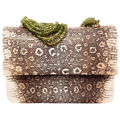 Darby Scott Lizard Evening Bag With Peridot Strands