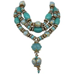 Venetian glass bead necklace from actress Elsa Martinelli's personal collection
