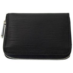 Louis Vuitton Black Epi Leather Zippy Coin Purse with Box & Dust Bag
