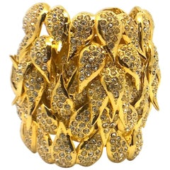 De Liguoro gold cuff bracelet from Actress Elsa Martinelli's personal collection