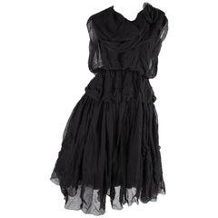 Chanel Silk Dress 2000A - black