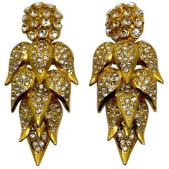 De Liguoro large earrings from Actress Elsa Martinelli's personal collection