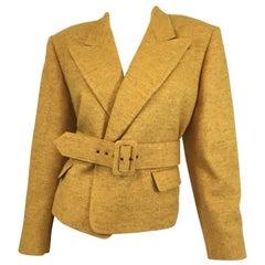 Jean Paul Gaultier Wool Belted Jacket