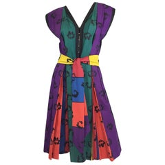 Claire McCardell by Townley Vintage African Print Day Dress